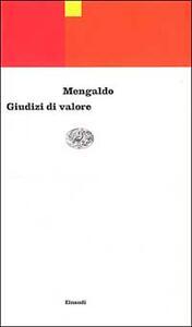 Giudizi di valore - Pier Vincenzo Mengaldo - copertina