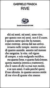 Foto Cover di Rive, Libro di Gabriele Frasca, edito da Einaudi