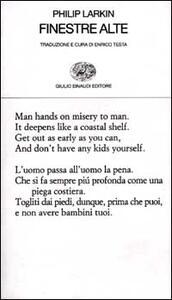 Finestre alte. Testo inglese a fronte - Philip Larkin - copertina