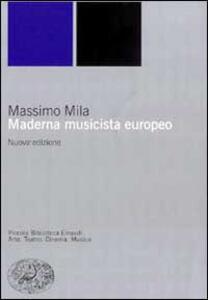 Maderna musicista europeo - Massimo Mila - copertina