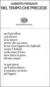 Nel tempo che precede - Umberto Piersanti - copertina