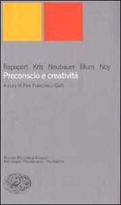 Preconscio e creatività - copertina
