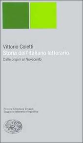 Storia dell'italiano letterario. Dalle origini al Novecento