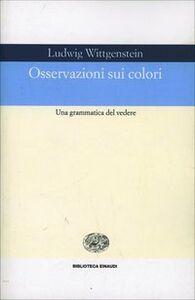Libro Osservazioni sui colori Ludwig Wittgenstein