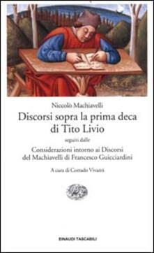 Letterarioprimopiano.it Discorsi sopra la prima deca di Tito Livio-Considerazioni intorno ai discorsi del Machiavelli Image