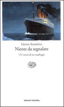Capturtokyoedition.it Niente da segnalare. 151 storie di un naufragio Image
