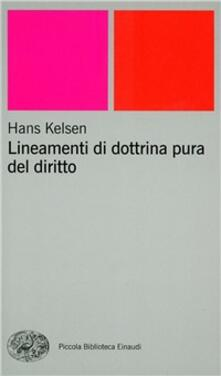 Lineamenti di dottrina pura del diritto - Hans Kelsen - copertina