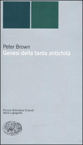 Genesi della tarda antichità - Peter Brown - copertina