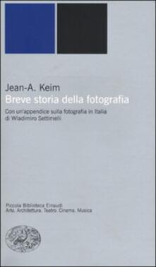 Breve storia della fotografia - Jean A. Keim - copertina