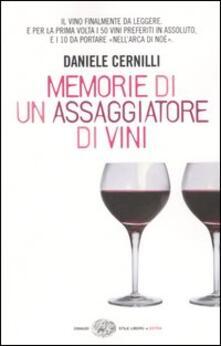 Memorie di un assaggiatore di vini - Daniele Cernilli - copertina