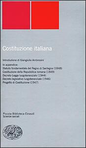 Costituzione italiana - copertina