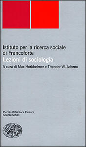 Lezioni di sociologia - copertina