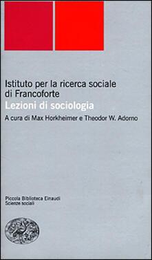 Letterarioprimopiano.it Lezioni di sociologia Image