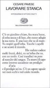 Lavorare stanca - Cesare Pavese - copertina