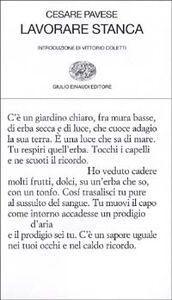 Foto Cover di Lavorare stanca, Libro di Cesare Pavese, edito da Einaudi