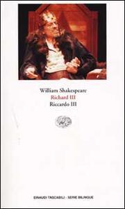 Richard III-Riccardo III - William Shakespeare - copertina