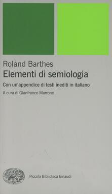 Museomemoriaeaccoglienza.it Elementi di semiologia. Con un'appendice di testi inediti in italiano Image