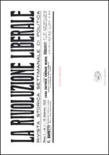 Ristorantezintonio.it La Rivoluzione Liberale. Rivista storica settimanale di politica Image