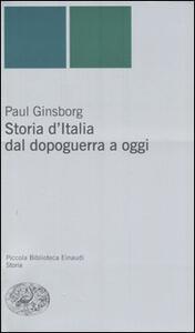 Storia d'Italia dal dopoguerra a oggi - Paul Ginsborg - copertina