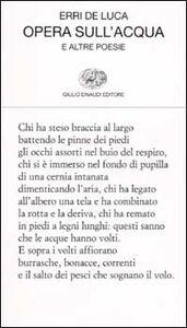 Libro Opera sull'acqua e altre poesie Erri De Luca