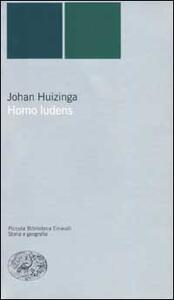 Homo ludens - Johan Huizinga - copertina