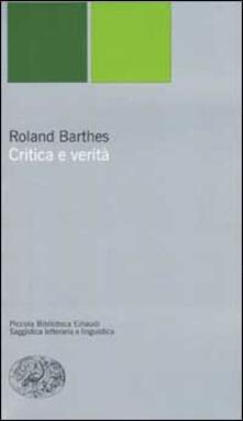 Critica e verità - Roland Barthes - copertina