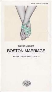 Boston Marriage - David Mamet - copertina