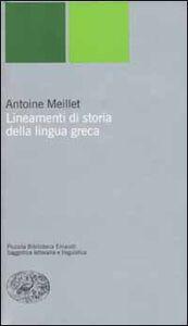 Libro Lineamenti di storia della lingua greca Antoine Meillet