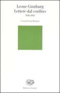 Libro Lettere dal confino 1940-1943 Leone Ginzburg