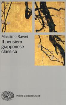 Il pensiero giapponese classico - Massimo Raveri - copertina