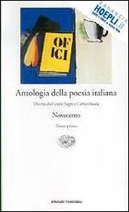 Antologia della poesia italiana. Vol. 8: Novecento. - copertina