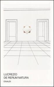 De rerum natura. Testo latino a fronte - Tito Lucrezio Caro - copertina