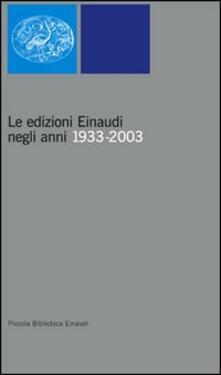 Capturtokyoedition.it Le edizioni Einaudi negli anni 1933-2003 Image