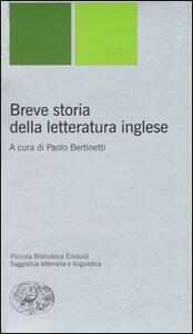 Breve storia della letteratura inglese - copertina