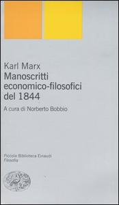 Libro Manoscritti economico-filsofici del 1844 Karl Marx