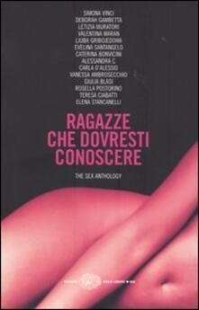 Ragazze che dovresti conoscere. The sex anthology - copertina