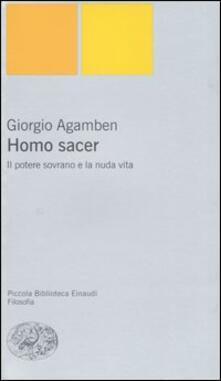Il potere sovrano e la nuda vita. Homo sacer - Giorgio Agamben - copertina