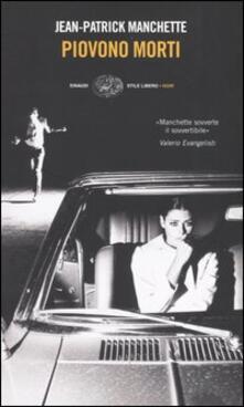 Piovono morti - Jean-Patrick Manchette - copertina