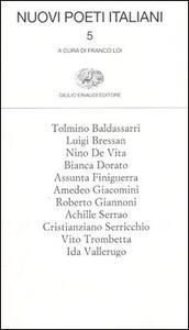 Nuovi poeti italiani. Vol. 5 - copertina