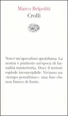 Crolli - Marco Belpoliti - copertina