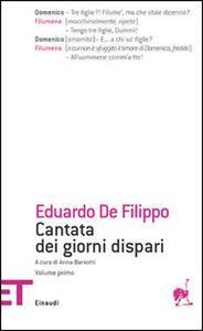 Cantata dei giorni dispari. Vol. 1 - Eduardo De Filippo - copertina