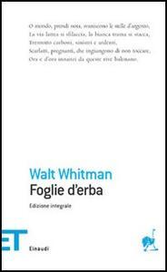 Foglie d'erba - Walt Whitman - copertina