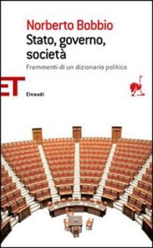 Stato, governo, società - Norberto Bobbio - copertina