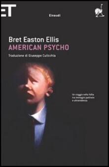 American psycho - Bret Easton Ellis - copertina