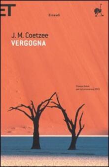 Vergogna - J. M. Coetzee - copertina