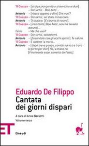 Libro Cantata dei giorni dispari. Vol. 3 Eduardo De Filippo