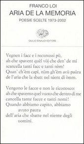 Aria de la memoria. Poesie scelte 1973-2002