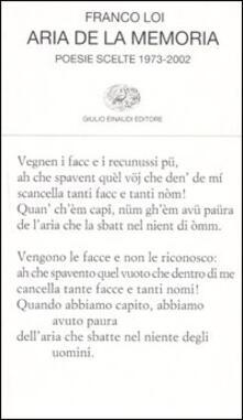 Festivalpatudocanario.es Aria de la memoria. Poesie scelte 1973-2002 Image