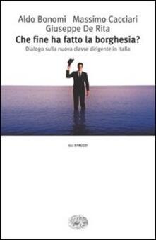 Che fine ha fatto la borghesia? Dialogo sulla nuova classe dirigente in Italia