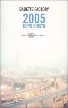 2005 dopo Cristo - Babette Factory - copertina